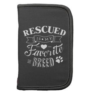 Slogan Rescued is my favorite breed Planners