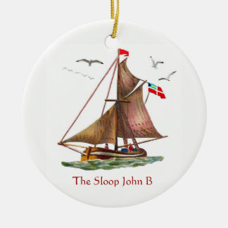 Sloop John B Ceramic Ornament
