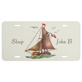 Sloop John B License Plate