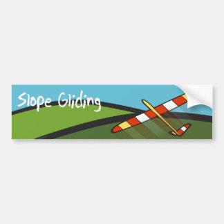 Slope gliding bumper sticker