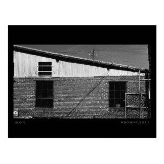 Slope Urban Industrial Digital Fine Art Landscape Postcard