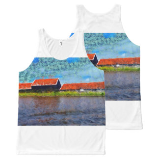 Sloping red roofs All-Over-Print tank top