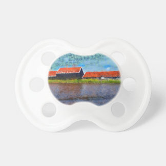 Sloping red roofs pacifier