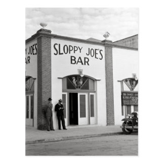 Sloppy Joe's Bar, 1938 Postcard