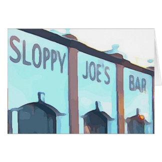 Sloppy Joe's Bar Card