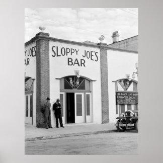 Sloppy Joe's Bar, Key West, 1938 Poster
