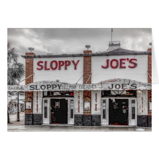 Sloppy Joe's Key West Greeting Card