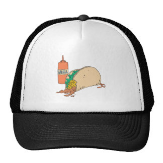 sloppy taco with salsa trucker hat