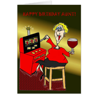 SLOT MACHINE HAPPY BIRTHDAY AUNT CARD