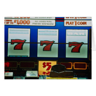 Slot machine in a casino card