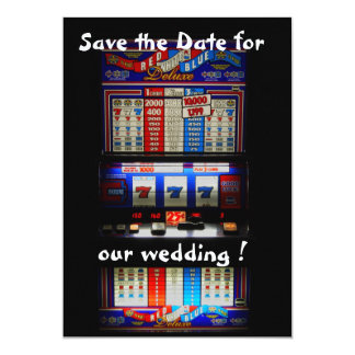 Slot Machine Save the Date Lucky in Love Card