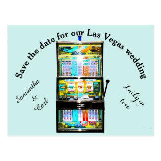 Slot Machine Save the Date Postcard