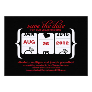 Slot Machine Save the Date - Wedding Personalized Invite