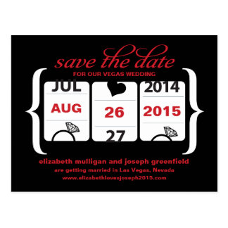 Slot Machine Save the Date - Wedding Postcard
