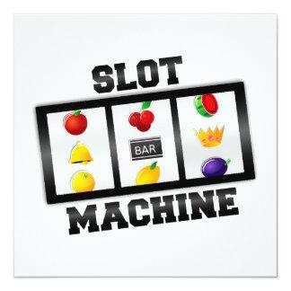 Slot Machine Tilted Icon Invites