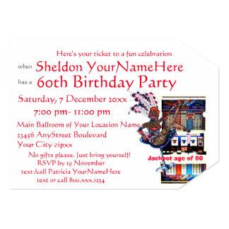 Slot Machine Vegas Style Birthday Party Card