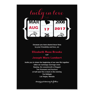 Slot Machine Wedding Invitation