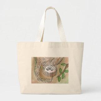 Sloth Adorableness Large Tote Bag