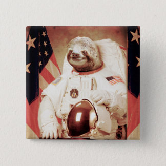 Sloth astronaut-sloth-space sloth-sloth gifts 2 inch square button