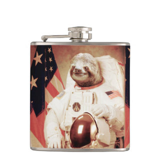 Sloth astronaut-sloth-space sloth-sloth gifts hip flask