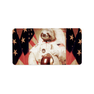 Sloth astronaut-sloth-space sloth-sloth gifts label