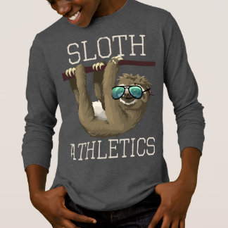 Sloth Athletics Funny Sunglasses Boys Kids Zoo T-Shirt