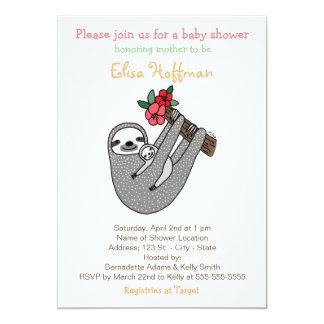 Sloth Baby Shower Invitation Cute Sloth Mom Baby
