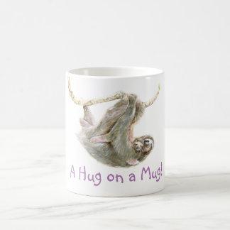 """Sloth, baby with mum """"A Hug on a Mug"""" Coffee Mug"""