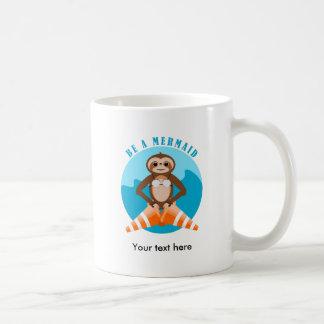 Sloth Be A Mermaid Coffee Mug
