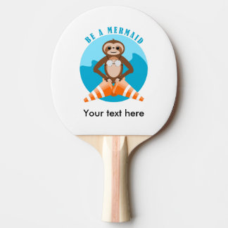 Sloth Be A Mermaid Ping Pong Paddle