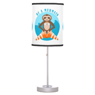 Sloth Be A Mermaid Table Lamp