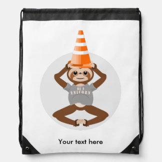 Sloth Be A Unicorn Drawstring Bag