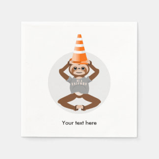 Sloth Be A Unicorn Road Cone Disposable Napkin