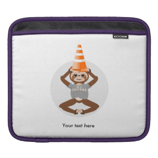 Sloth Be A Unicorn Road Cone iPad Sleeve