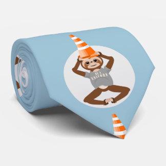 Sloth Be A Unicorn Road Cone Tie