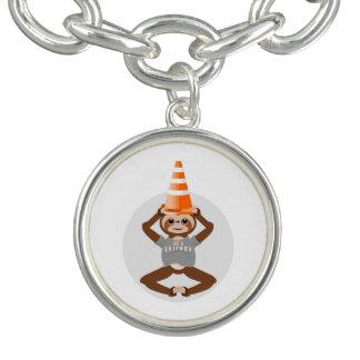 Sloth Be A Unicorn Safety Cone Charm Bracelet