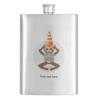 Sloth Be A Unicorn Safety Cone Hip Flask