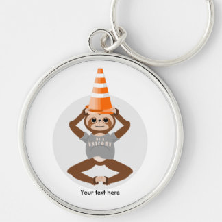 Sloth Be A Unicorn Safety Cone Keychain