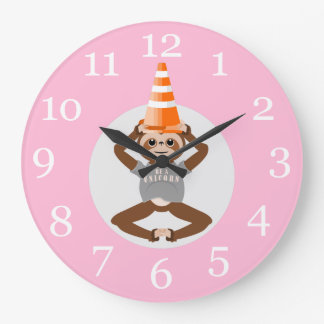 Sloth Be A Unicorn Traffic Cone Large Clock