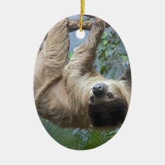 Sloth Ceramic Ornament