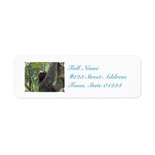 Sloth Climbing Tree Return Address Label