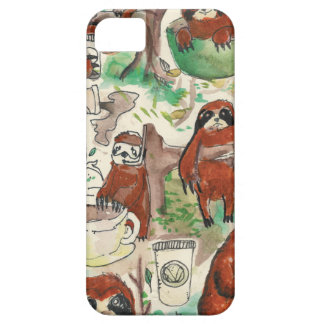 sloth coffee iPhone 5 cover
