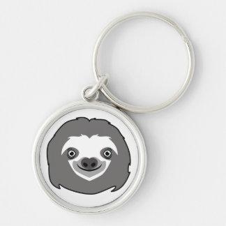 Sloth Face Keychain