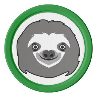 Sloth Face Poker Chip Set