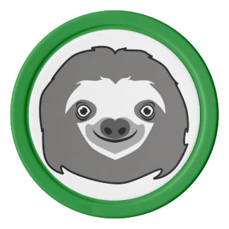 Sloth Face Poker Chips