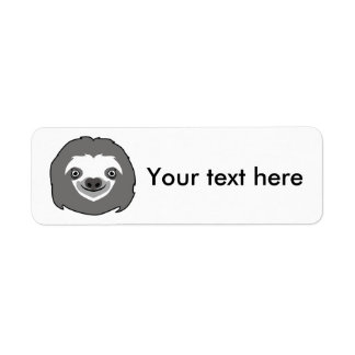 Sloth Face Return Address Label