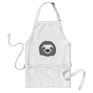 Sloth Face Standard Apron