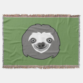 Sloth Face Throw Blanket
