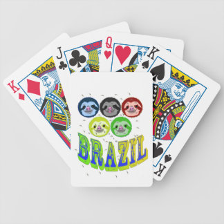 sloth faces brazil 2016 with mosquitos poker deck