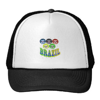 sloth faces brazil 2016 with mosquitos trucker hat